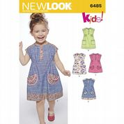 6485 New Look Pattern: Toddlers' Dress or Tunic